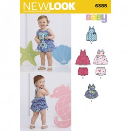 Halter Romper Sewing Pattern for Babies - New Look 6385