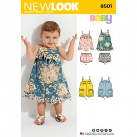 Ruffled Dress Sewing Pattern for Babies - New Look 6501
