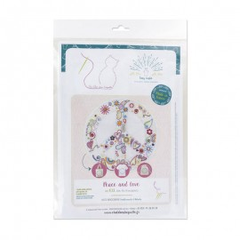 Embroidery kit - Peace and love