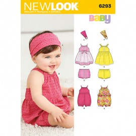 Halter Jumpsuit Sewing Pattern for Babies - New Look 6293