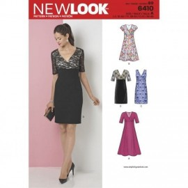 Cocktail Dress Sewing Pattern for Woman - New Look 6410
