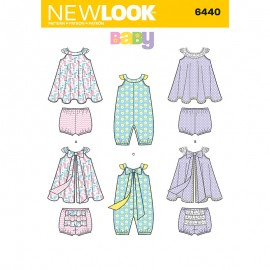 Halter Dress with Bloomers Sewing Pattern for Babies - New Look 6440