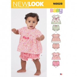 Short Sleeves Set Sewing Pattern for Babies - New Look 6628