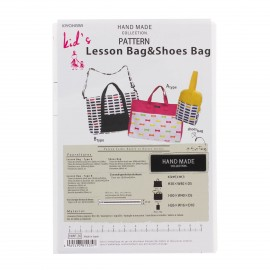 """Patron Sac HandMade collection """"Lesson Bag & Shoes Bag"""""""