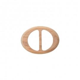 Oval sliding bar adjuster buckle - natural Mader
