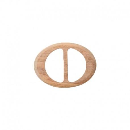 Boucle coulisse bois ovale Mader - naturel