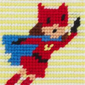 Kit canevas enfant - Super nana