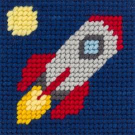 Kit canevas enfant - En route vers la lune