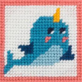 Kit canevas enfant - Kiki le dauphin magique