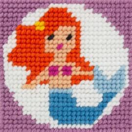 Kit canevas enfant - Ariel jolie sirène
