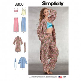Patron Ensemble pyjama Femme - Simplicity n°8800