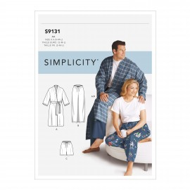 Pajamas set sewing pattern for Woman and Man - Simplicity n°S9131