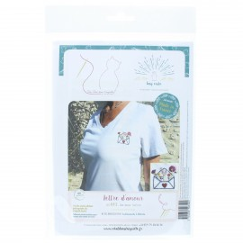 Embroidery kit - Lettre d'amour