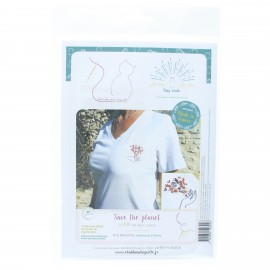 Embroidery kit - Save the planet
