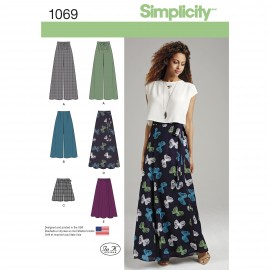 Large Pants sewing Pattern for Woman - Simplicity n°1069