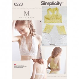 Underwear set sewing pattern for Woman - Simplicity n°8228