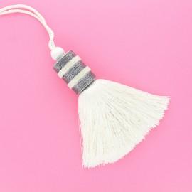 Pompom curtain tieback - white Sontuosa