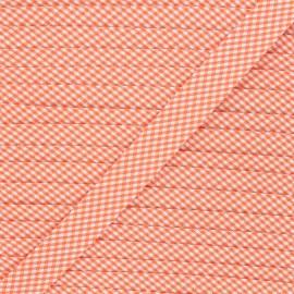 Biais polycoton Petit vichy 20mm - orange x 1m