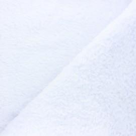 Tissu fourrure mouton coton Veluti - blanc x 10cm