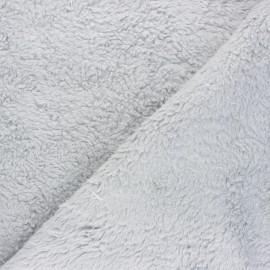 Tissu fourrure mouton coton Veluti - gris clair x 10cm
