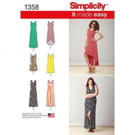 Patron Robe sans manche Femme - Simplicity n°1358
