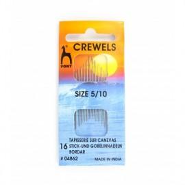 Crewels needles size n°5/10 PONY