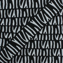 40 mm Flat elastic - black Zebra x 50cm