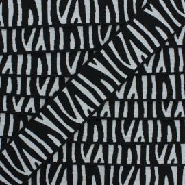 Elastique plat Zebra 40 mm - noir x 50cm