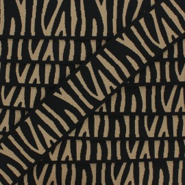 Elastique plat Zebra 40 mm - camel x 50cm