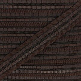 Sangle polyester Karl 35 mm - marron x 50cm