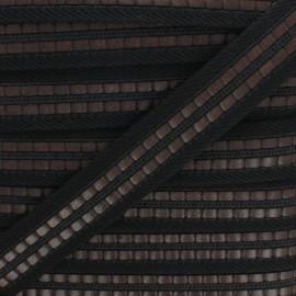 Sangle polyester Karl 35 mm - noir x 50cm