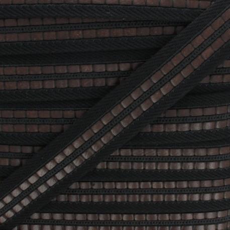 35 mm polyester strap - black Karl x 50cm
