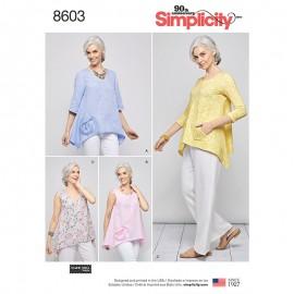 Patron Blouse ample asymétrique Femme - Simplicity n°8603