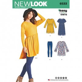Tunic and Legging Sewing Pattern Set for Woman - New Look 6533