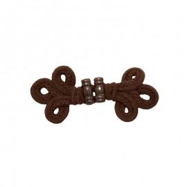 Duffle coat toggle - brown Casoli