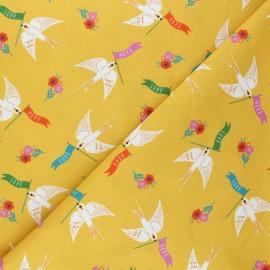 Cotton Dashwood Studio fabric - Swallow messages Good vibes x 10cm