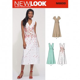 Wrap Dress Sewing Pattern for Woman - New Look 6600