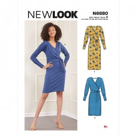 Wrap Dress Sewing Pattern for Woman - New Look 6680