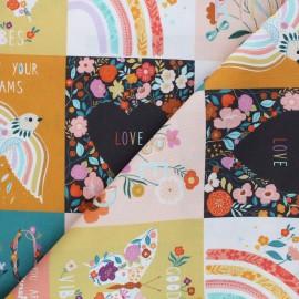 Cotton Dashwood Studio panel fabric - Positivity Good vibes x 12cm
