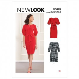 Fluid Dress Sewing Pattern for Woman - New Look 6679