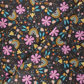 Tissu coton Dashwood Studio Good vibes - Rainbow garden x 10cm