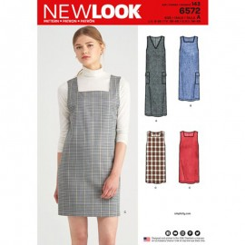 Apron Dress Sewing Pattern for Woman - New Look 6572
