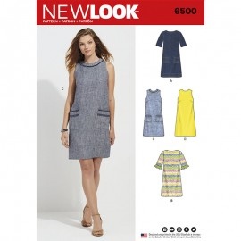 Trapeze Dress Sewing Pattern for Woman - New Look 6500