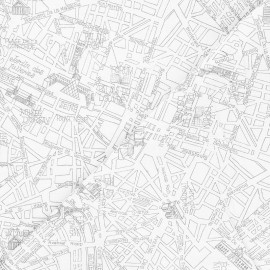 Tissu coton Timeless Treasures - Map of Paris - blanc x 10cm
