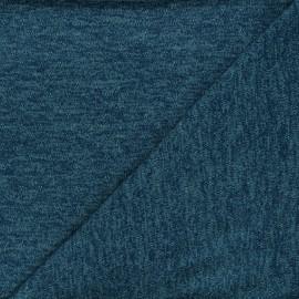 Tissu maille lurex ajouré Nino - bleu canard x 10cm