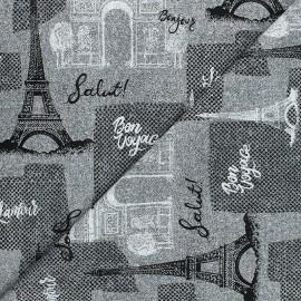 Tissu coton Timeless Treasures - Paris - gris x 10cm