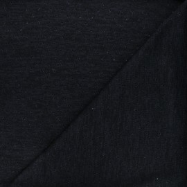 Tissu maille lurex ajouré Nino - bleu nuit x 10cm