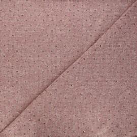 Tissu maille lurex ajouré Nino - vieux rose x 10cm