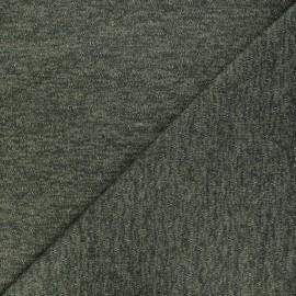 Openwork lurex knitted fabric - khaki Nino x 10cm