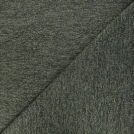 Tissu maille lurex ajouré Nino - kaki x 10cm